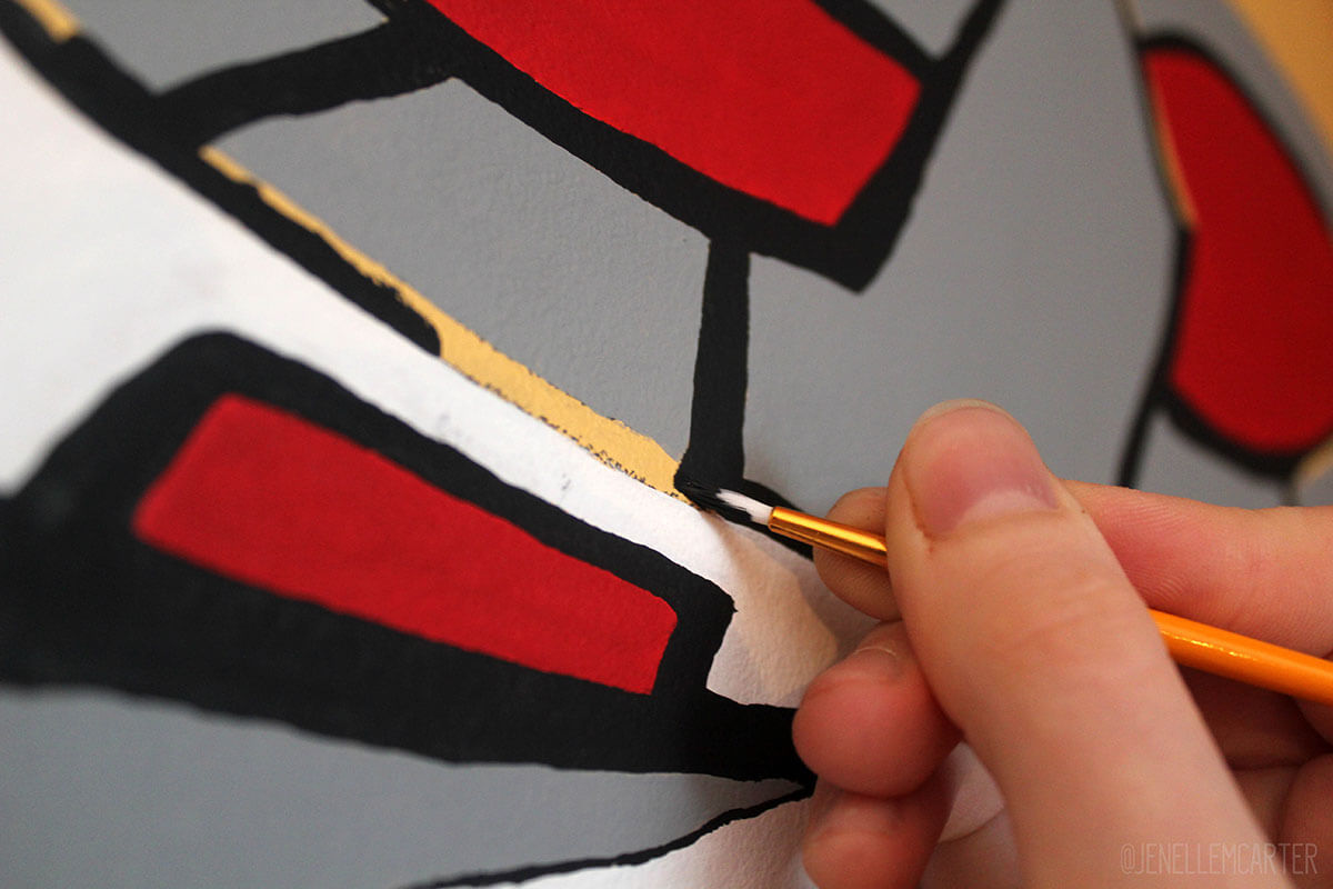 Painting close up