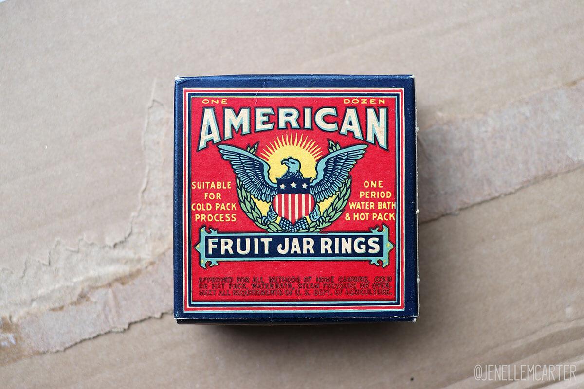 American Fruit Jar Rings vintage box